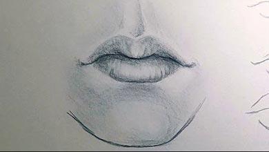 Photo of نقاشی دهان با مداد سیاه