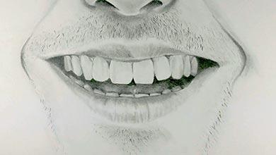 Photo of نقاشی دهان خندان در طراحی چهره