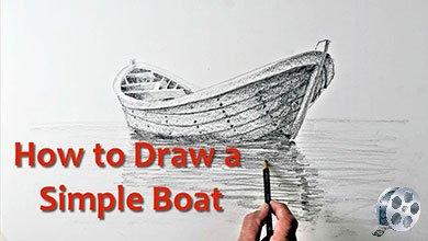 Photo of نقاشی قایق بر روی دریا