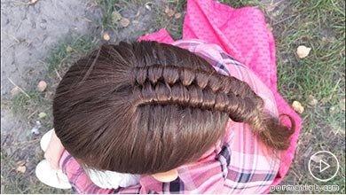 Photo of بافت هلندی موی دختربچه برای مهمانی