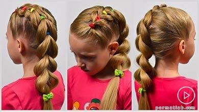 Photo of آموزش بافتن یک طرفه موی کودک با کش های رنگی