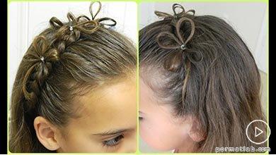 Photo of آرایش و تزیین موی کودک به شکل بافت هدبندی