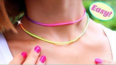 Photo of گردنبند چوکر رنگین کمان