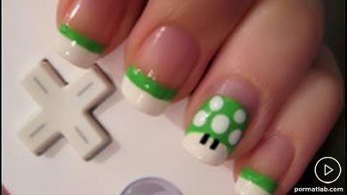 Photo of طراحی قارچ رنگی روی ناخن