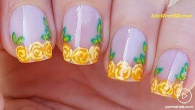 Photo of طراحی ناخن طرح گل