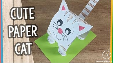 Photo of ساخت ساده گربه کاغذی