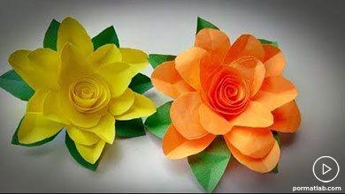 Photo of گلسازی با کاغذهای رنگی