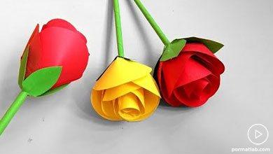 Photo of کاردستی گل رز کاغذی برای روز مادر
