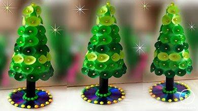 Photo of کاردستی کاغذی به شکل درخت کریسمس
