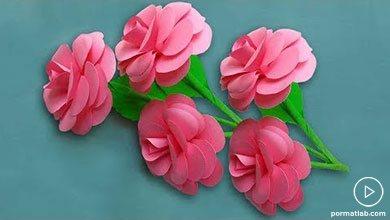 Photo of گل رز کاغذی