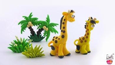 Photo of با خمیر رنگی برای بچه ها زرافه بسازید