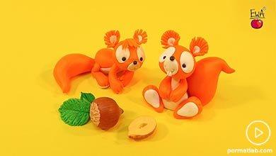 Photo of ساخت سنجاب برای کودکان با خمیر پلیمری