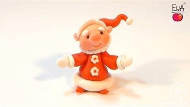 Photo of بابانوئل خندان با خمیرهای رنگی