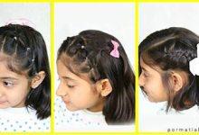 Photo of نمونه مدل موی دخترونه با بافت یک طرفه روی سر