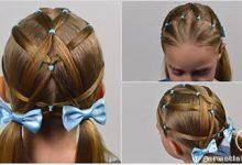 Photo of بافت دو طرفه مو و استفاده از پاپیون های رنگی