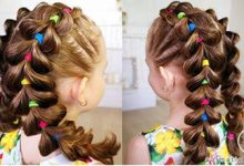 Photo of بافت موی فانتزی کودکانه با طرح دو طرفه قلبی