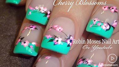 Photo of فرنچ آبی با شکوفه های صورتی