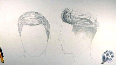 Photo of نقاشی موی کوتاه پسرانه در طراحی چهره