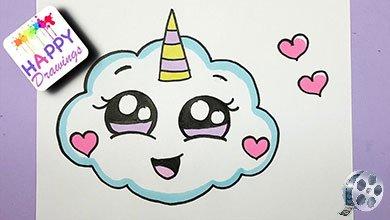 Photo of نقاشی ابر سفید تک شاخ برای بچه ها