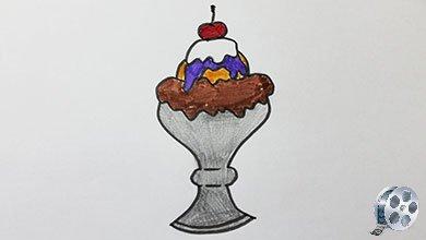 Photo of نقاشی بستنی شکلاتی با مداد سیاه