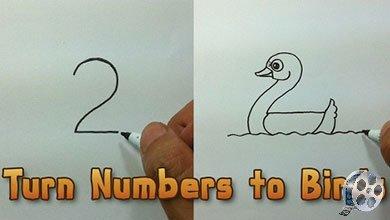 Photo of نقاشی پرنده های مختلف به کمک اعداد