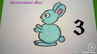 Photo of نقاشی خرگوش به کمک عدد 3