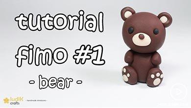 Photo of با خمیر فیمو یک خرس کوچک بسازید