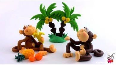 Photo of ساخت میمون با خمیر پلیمری