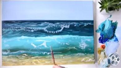 Photo of آموزش نقاشی اقیانوس ، تکنیک های اکریلیک
