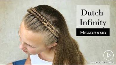 Photo of بافتن موی بصورت هدبندی کودکانه