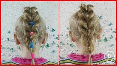 Photo of تزیین ساده و شیک بافت موی کودک