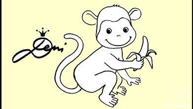 Photo of نقاشی کشیدن میمون موز به دست