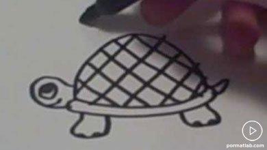 Photo of کشیدن نقاشی لاک پشت برای کودک