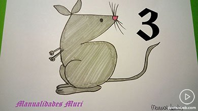 Photo of کشیدن نقاشی موش با عدد 3