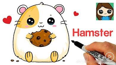 Photo of نقاشی همستر برای کودکان