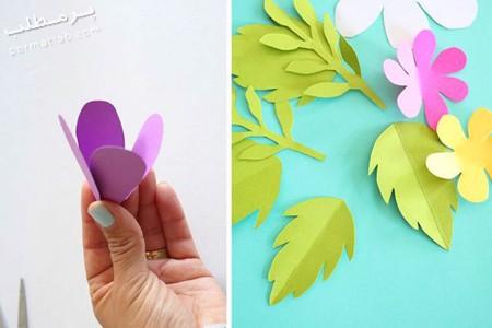 تکنیک های ساخت آویز با گل های کاغذی,نحوه ساخت انواع آویز