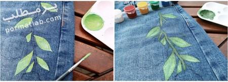 ایده هایی برای نقاشی روی دامن جین,مهارت های نقاشی روی دامن
