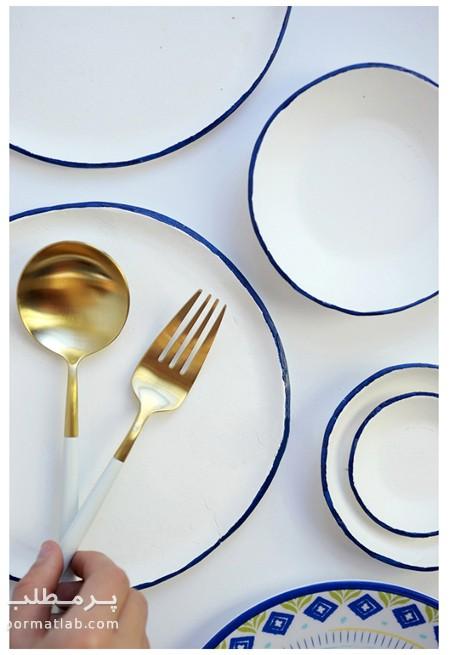 نقاشی روی ظروف ساده