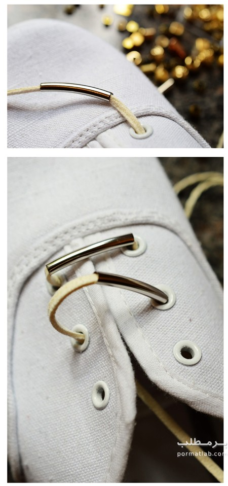 تغییر کفش با بند چرمی و مهره