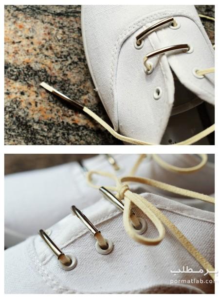 تغییر بندهای ساده کفش, نحوه تغییر بندهای ساده کفش