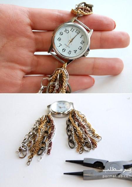 آموزش تزیین ساعت با زنجیر, نحوه تزیین ساعت با زنجیر