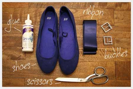 تزیین کفش با روبان,تزیین کفش اسپرت