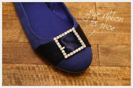 تزیین کفش عروسکی با روبان,آموزش مرحله ای تزیین کفش
