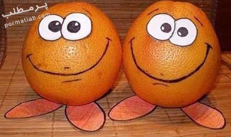 تزیین پرتقال,تزیین پرتقال برای تولد,مدل تزیین پرتقال