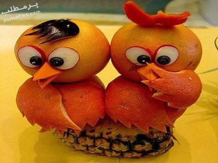 تزیین پرتقال به شکل مختلف,نحوه تزیین پرتقال,تزیین پرتقال