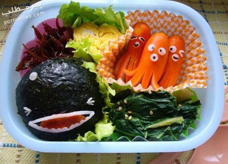 تزیین غذای کودک,تصاویر تزیین غذا