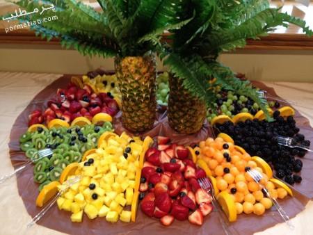 تزیین میوه روی میز برای تولد,تزیین هندوانه,تزیین میوه روی میز