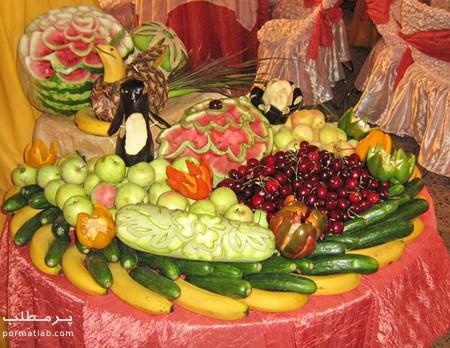 تزیین میوه روی میز,تزیین میوه روی میز,تزیین میوه برای روی میز