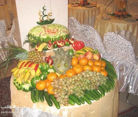 تزیین میوه روی میز,عکس تزیین میوه روی میز,تزیین میوه برای روی میز
