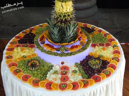 تزیین میوه روی میز,تزیین میوه برای روی میز,تصاویر تزیین میوه روی میز